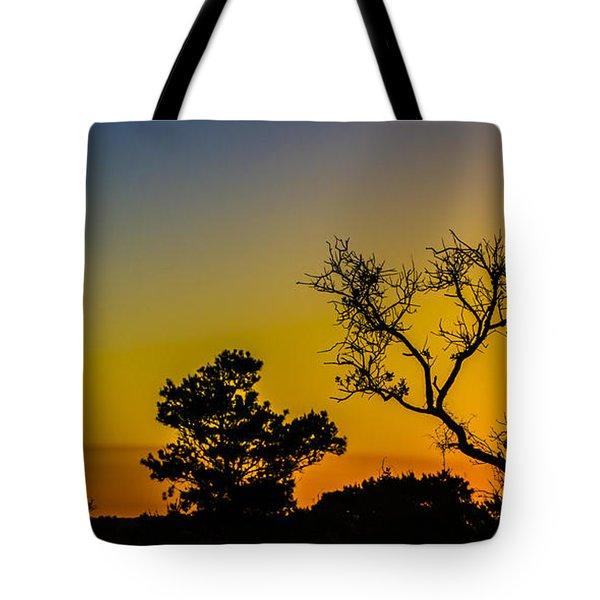 Sunset Silhouette Tote Bag by Debra and Dave Vanderlaan