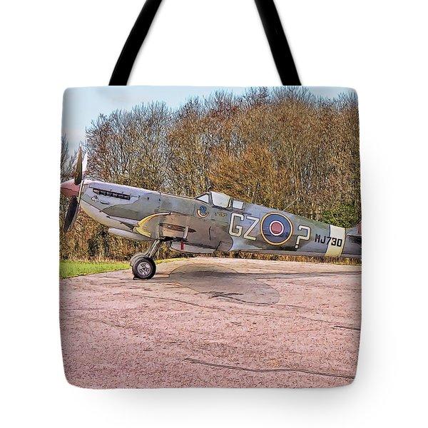 Supermarine Spitfire Hf Mk. Ixe Mj730 Tote Bag