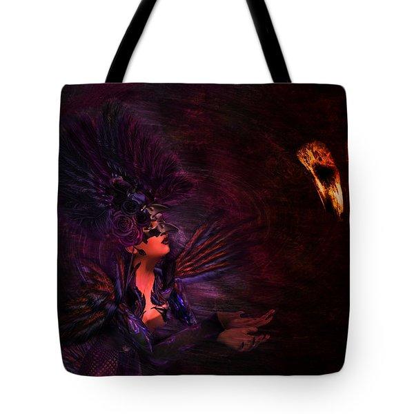 Tote Bag featuring the digital art Supplication 06301301 - By Kylie Sabra by Kylie Sabra
