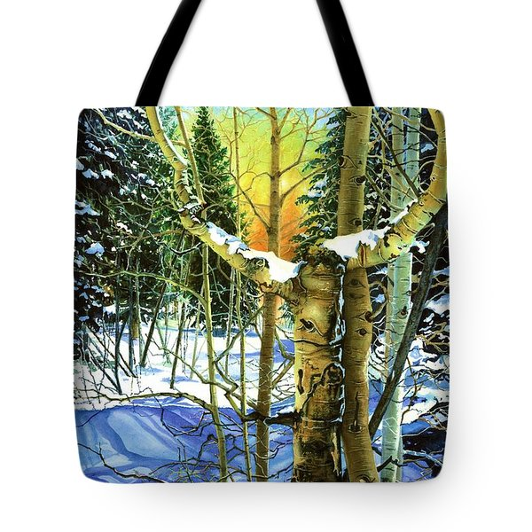 Tote Bag featuring the painting Supplication-psalm 28 Verse 2 by Barbara Jewell