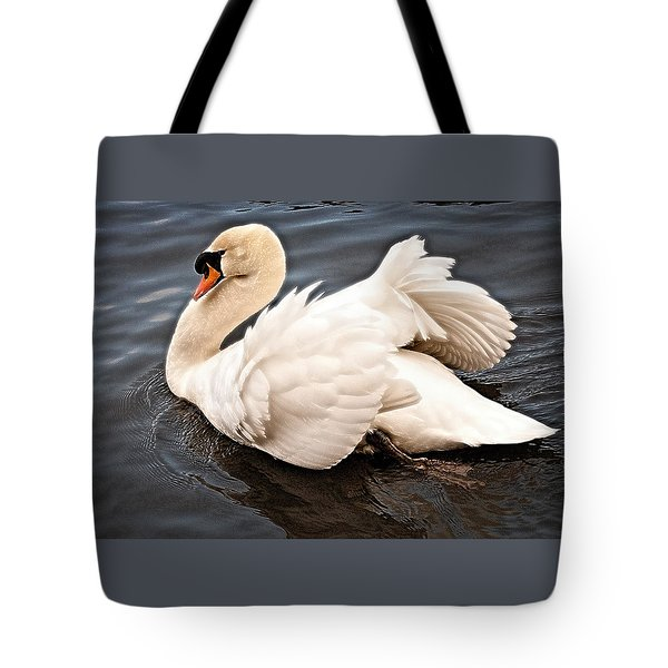 Tote Bag featuring the photograph Swan One by Elf Evans