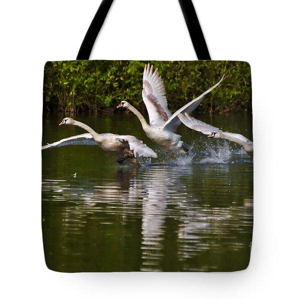 Swan Take-off Tote Bag