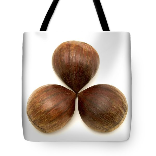 Tote Bag featuring the photograph Sweet Chestnuts Fruits by Fabrizio Troiani