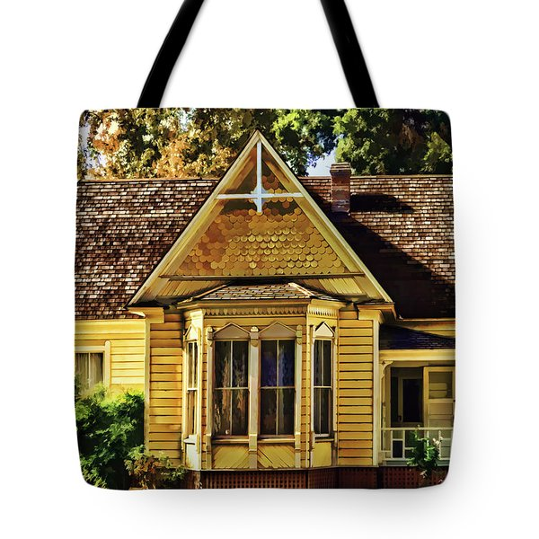 Tote Bag featuring the painting Sweet Home by Muhie Kanawati
