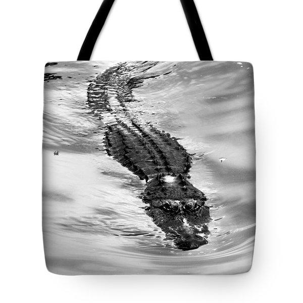 Swimming Gator Tote Bag