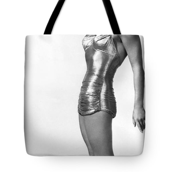 Swimming Star Esther Williams Tote Bag by Underwood Archives