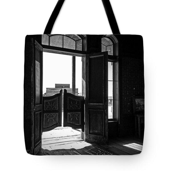 Swinging Doors Tote Bag