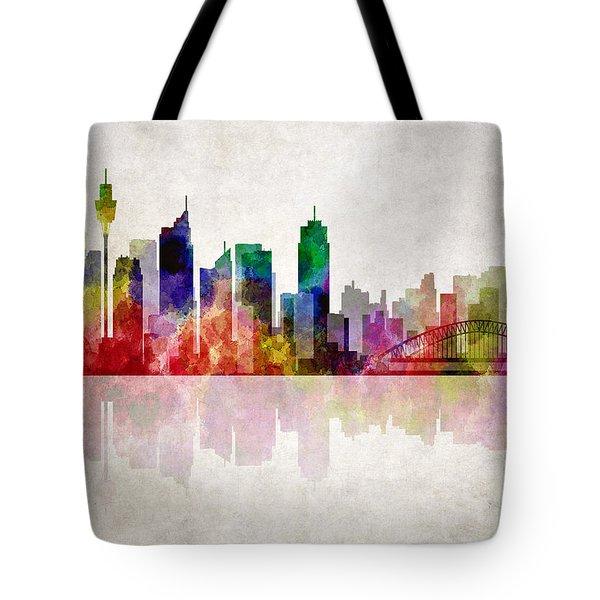 Sydney Australia Skyline Tote Bag by Daniel Hagerman
