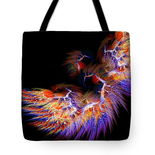 Symbol Of Fire Tote Bag by Lourry Legarde
