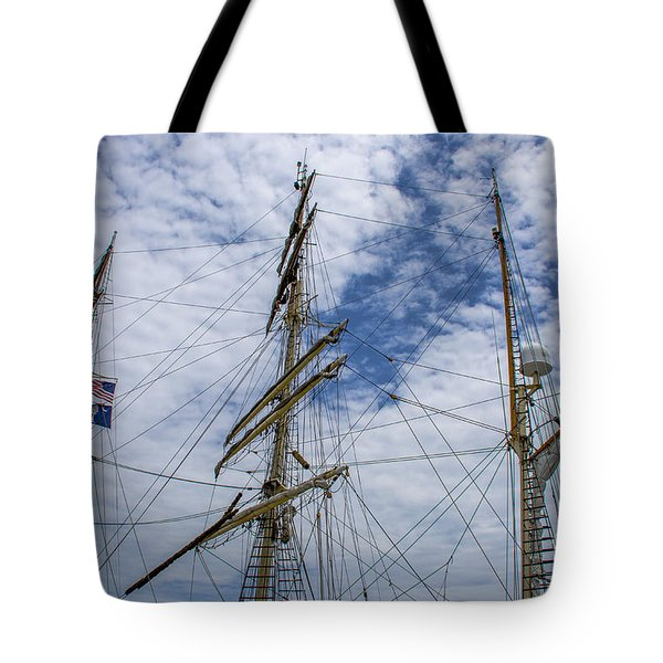 Tall Ship Three Mast  Tote Bag by Dale Powell