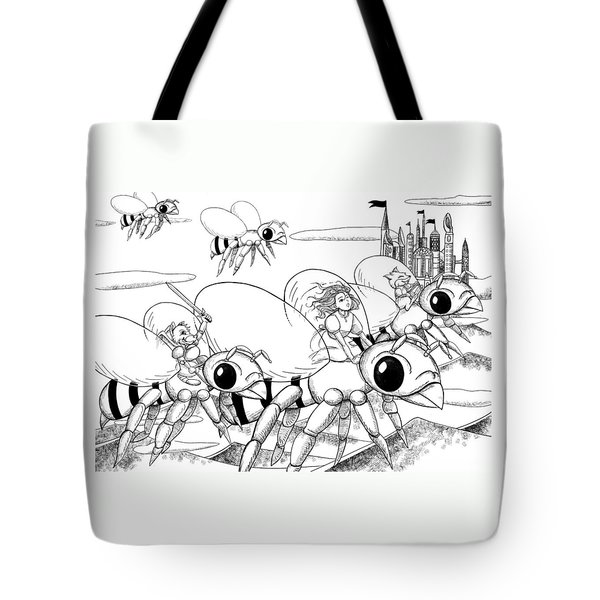 Tote Bag featuring the drawing Tammy In Polynesia by Reynold Jay