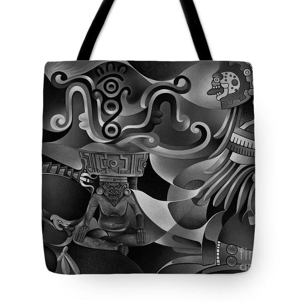 Tapestry Of Gods - Huehueteotl Tote Bag
