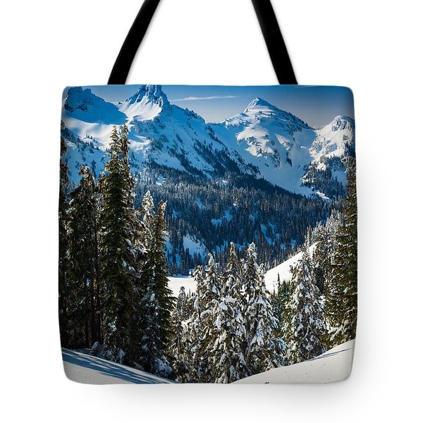Tatoosh Winter Wonderland Tote Bag