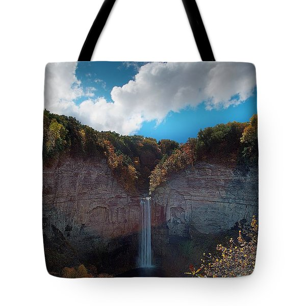 Tote Bag featuring the photograph Taughannock Falls Ithaca New York by Paul Ge