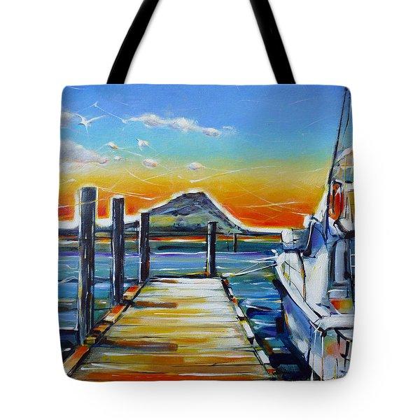 Tauranga Marina 180412 Tote Bag by Selena Boron