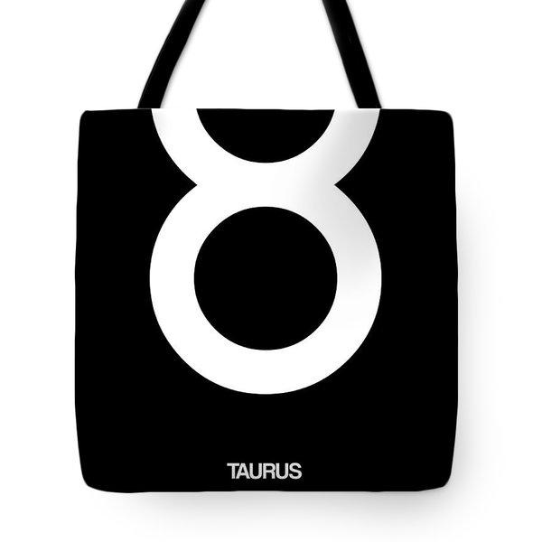 Taurus Zodiac Sign White Tote Bag