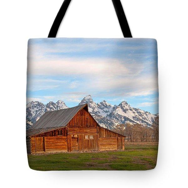 Teton Barn Tote Bag by Steve Stuller