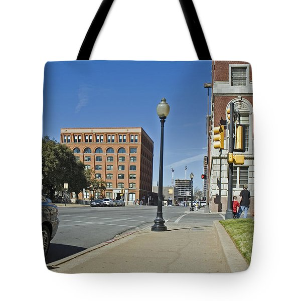 Tote Bag featuring the photograph Texas School Book Depository by Charles Beeler
