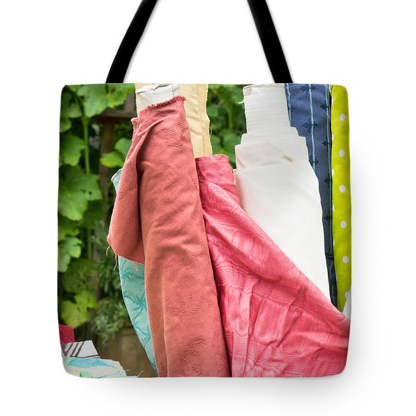 Textiles Sale Tote Bag by Tom Gowanlock