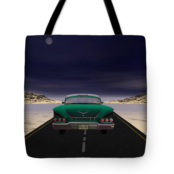 Tote Bag featuring the digital art The 58 On 66 by John Pangia