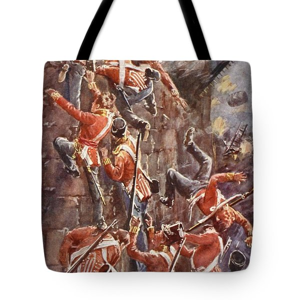 The 5th Division Storming By Escalade Tote Bag by William Barnes Wollen