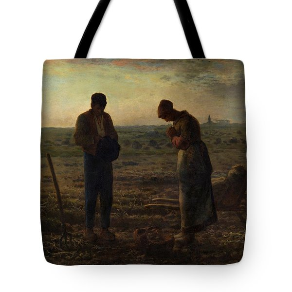 Tote Bag featuring the painting The Angelus by Jean Francois Millet