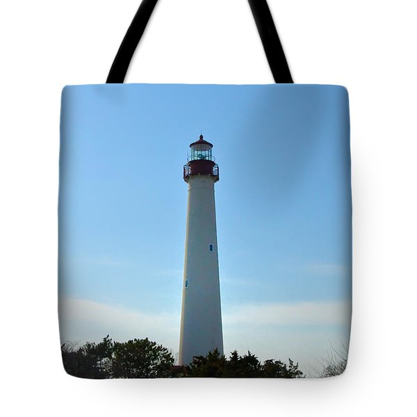 The Beacon Of Cape May Tote Bag by Bill Cannon