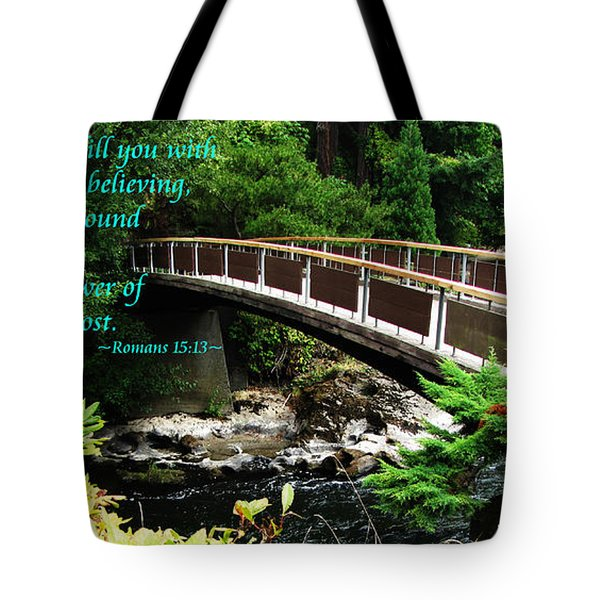 The Bible Romans 15 13 Tote Bag