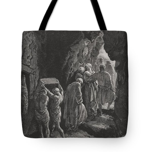 The Burial Of Sarah Tote Bag by Gustave Dore
