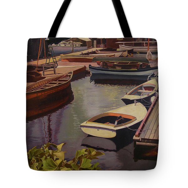 The Canvas Boat Tote Bag by Thu Nguyen