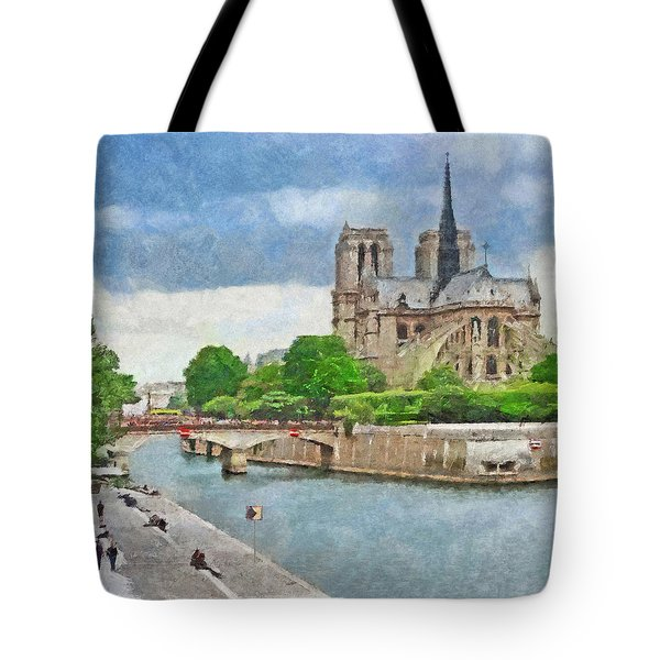 The Cathedral Of Notre Dame  Tote Bag