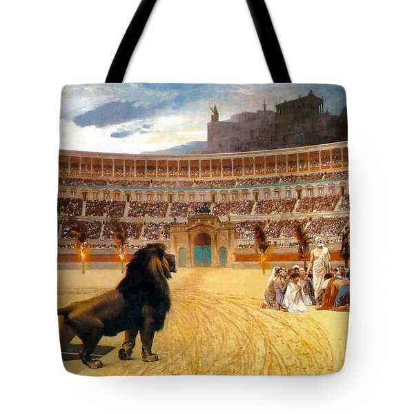 The Christian Martyrs' Last Prayer Tote Bag by Jean Leon Gerome