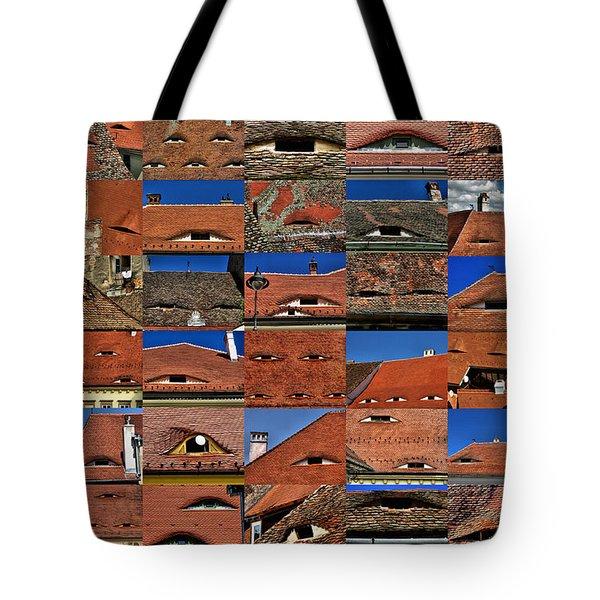 The City's Eyes Sibiu Hermannstadt Romania Tote Bag