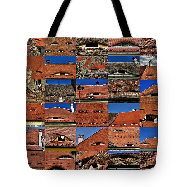 The City's Eyes Sibiu Hermannstadt Romania Tote Bag