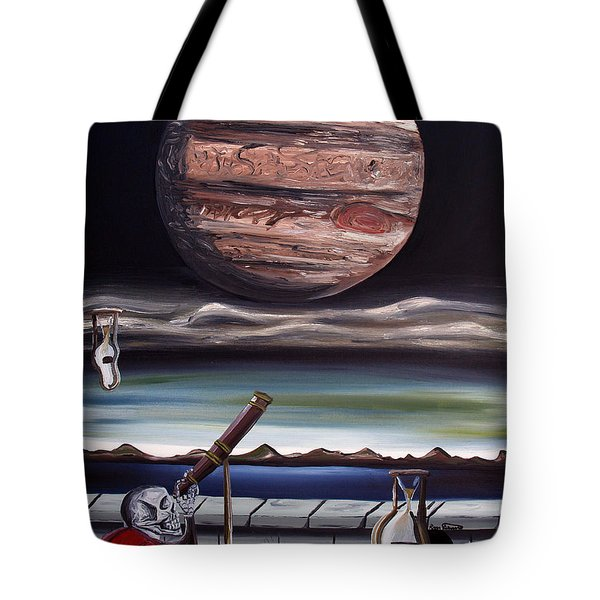 Tote Bag featuring the painting The Eternal Staring Contest by Ryan Demaree