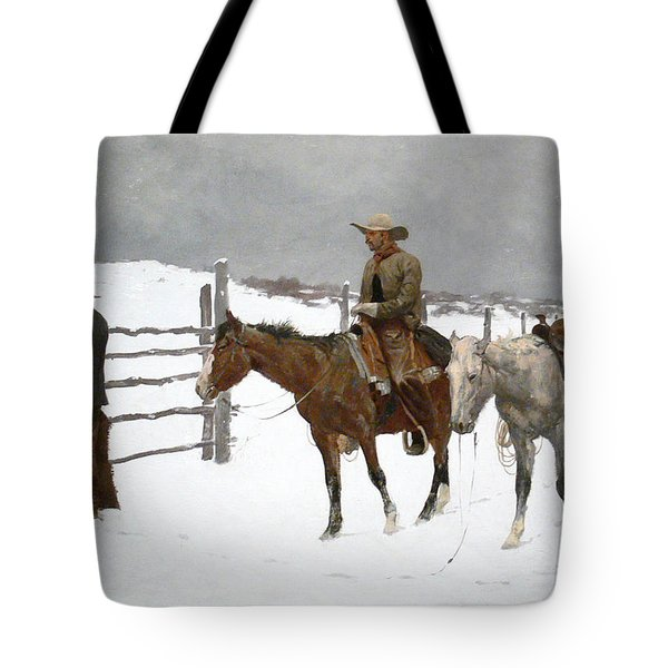 The Fall Of The Cowboy Tote Bag