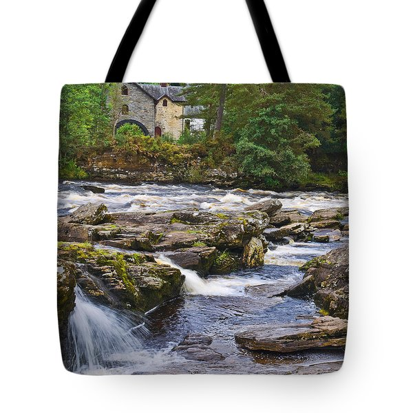 Tote Bag featuring the photograph The Falls Of Dochart Scotland by Jane McIlroy