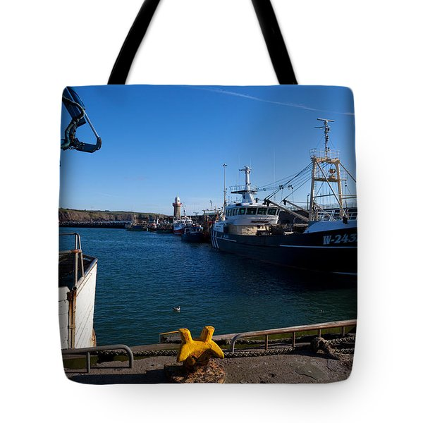 The Fishing Harbour, Dunmore East Tote Bag