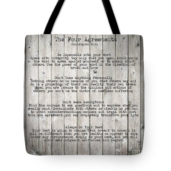 The Four Agreements Tote Bag by Andrea Anderegg