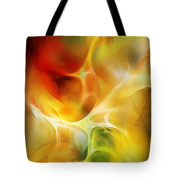 Tote Bag featuring the digital art The Heart Of The Matter by David Lane