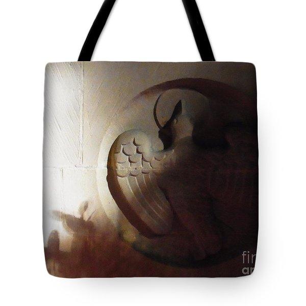 The Holy Spirit Tote Bag by Agnieszka Ledwon