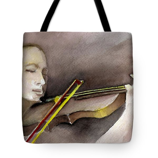 The Violin Tote Bag by Allison Ashton