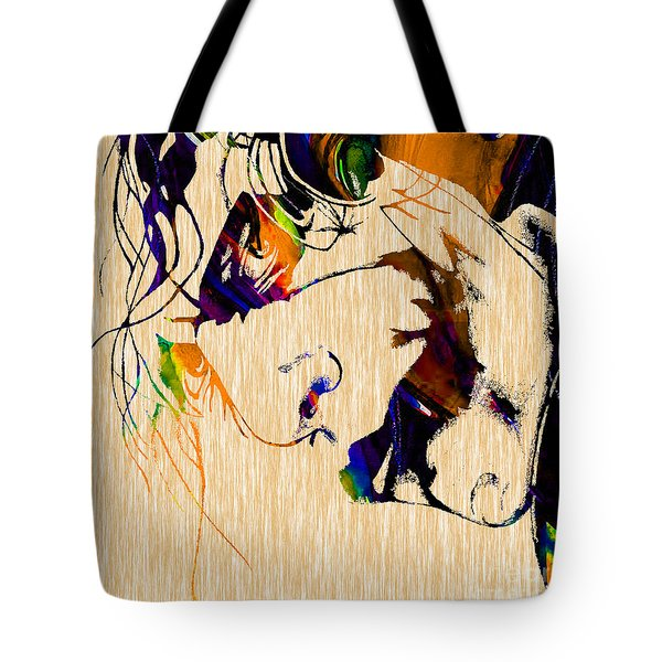 The Joker Heath Ledger Collection Tote Bag by Marvin Blaine