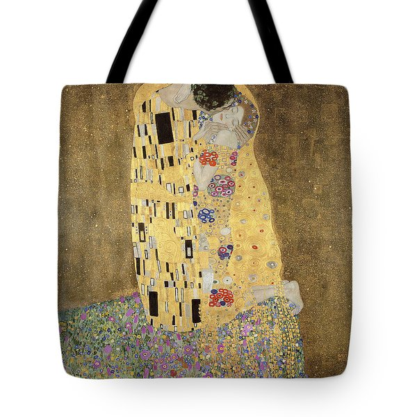 Tote Bag featuring the painting The Kiss by Celestial Images