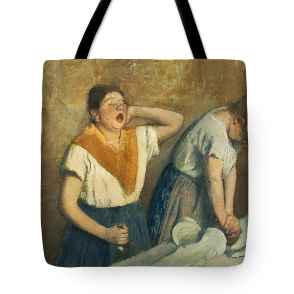 The Laundresses Tote Bag by Edgar Degas