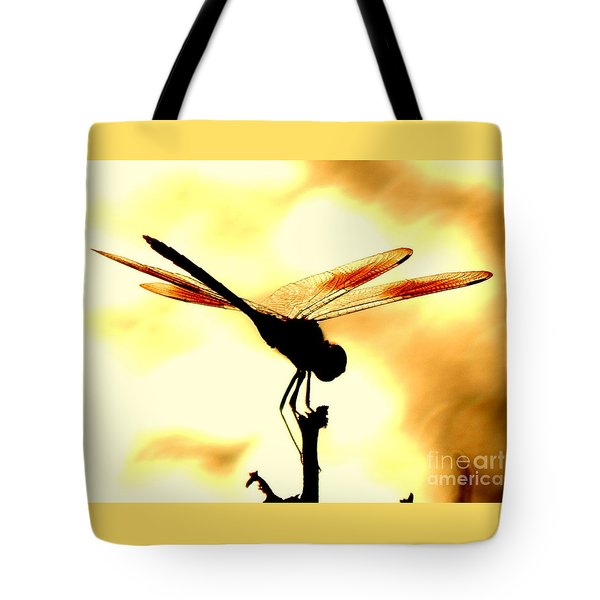 The Light Of Flight Upon The Mosquito Hawk At The Mississippi River In New Orleans Louisiana Tote Bag
