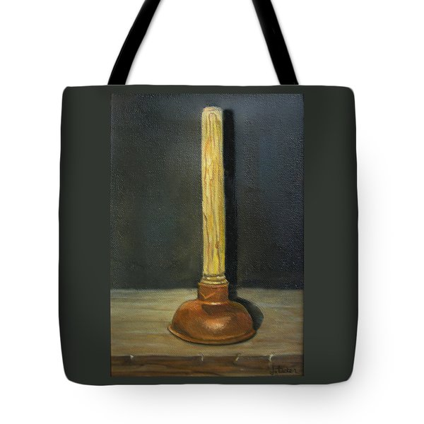 The Lone Plunger Tote Bag by Donna Tucker