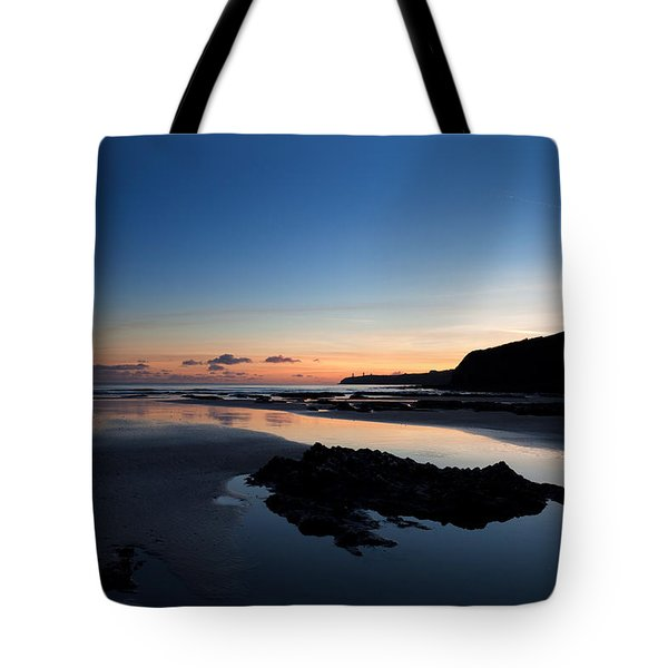 The Metal Man On Newtown Head, Tramore Tote Bag
