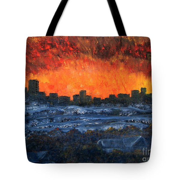 The Night The Lights Went Out Tote Bag