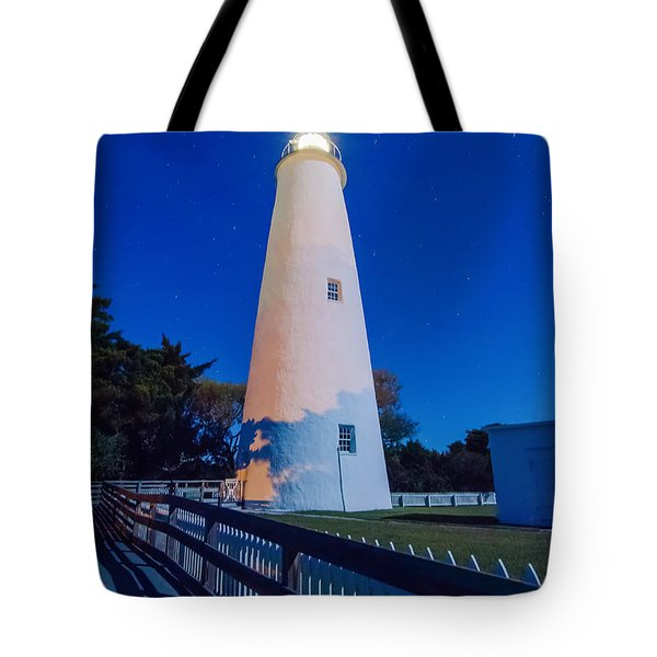 The Ocracoke Lighthouse On Ocracoke Island On The North Carolina Tote Bag